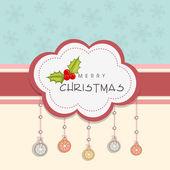 Merry Christmas celebration concept. — Stock Vector