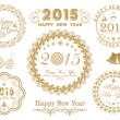Calligraphic collection for Happy New Year and Merry Christmas celebrations. — Stock Vector #59066429
