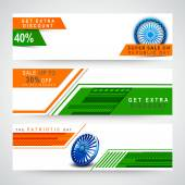 Web header or banner set for Republic Day celebration. — Stock Vector