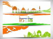 Indian Republic Day celebration web header or banner. — Stock Vector