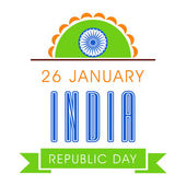 Poster for Republic Day celebration. — Stock Vector