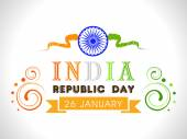 Beautiful poster design for Indian Repulic Day celebration. — Stock Vector