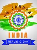 Индийский Республика день празднования дизайн плаката. — Cтоковый вектор