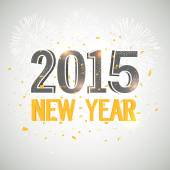 New Year 2015 celebration banner, poster or flyer. — Stockvector