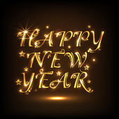 Diseño de texto brillante para celebración de feliz año nuevo 2015. — Vector de stock