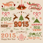 Merry Christmas and New Year celebration concept. — Stock Vector