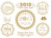 Calligraphic collection for Happy New Year and Merry Christmas celebrations. — ストックベクタ