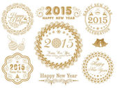 Calligraphic collection for Happy New Year and Merry Christmas celebrations. — Stock Vector