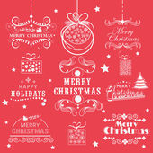 Calligraphic and typographic collection for New Year and Christmas. — Wektor stockowy