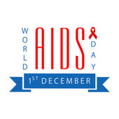 1st December, World Aids Day concept with red aids ribbon. — Wektor stockowy