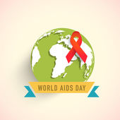 Badge design for World Aids Day concept. — Stock Vector