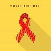 Poster or banner for World Aids Day concept. — Stock Vector