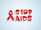 Poster or banner design for World Aids Day. — Stockvektor