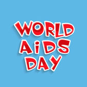 Poster or banner design for World Aids Day. — Stock Vector