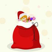 Christmas sack full of gifts for Christmas celebrations. — Stok Vektör