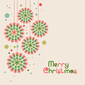 Merry Christmas celebrationg greeting or invitation card deisgn. — Stock Vector