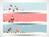 En-tête du site ou une bannière pour la célébration de Noël joyeux. — Vecteur