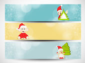 Website header or banner set for Merry Christmas celebration. — Stock Vector
