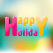 Stylish text design of Happy Holiday. — Cтоковый вектор