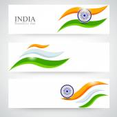 Header or banner set for Indian Republic Day celebration. — Stock Vector