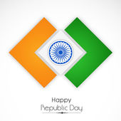 Stylish national flag for Indian Republic Day celebrations, — Stock Vector