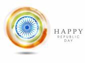 Indian Republic Day celebrations with Ashoka Wheel. — Stockvektor