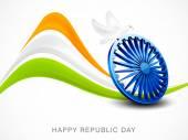 Indian Republic Day celebrations with Ashoka Wheel. — ストックベクタ