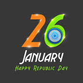 Poster or banner design for Indian Republic Day celebrations. — Vettoriale Stock