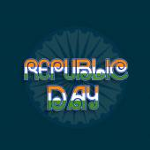 Poster or banner design for Indian Republic Day celebrations. — Stockvektor