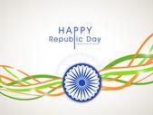 Happy Indian Republic Day celebration concept. — Stockvektor