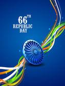 66th Republic Day celebration concept. — Stock Vector