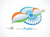 Happy Indian Republic Day celebration concept. — ストックベクタ