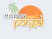 Celebration of South Indian festival, Happy Pongal. — Wektor stockowy