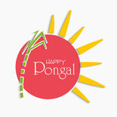 Celebration of South Indian festival, Happy Pongal. — Vetor de Stock