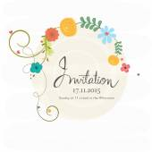 Invitation card with date and time. — Stock Vector