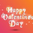 Happy Valentine's Day celebration with 3D text. — Stock Vector #60185597