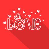 Happy Valentine's Day celebration with Love text. — Stock vektor