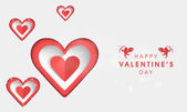 Stylish heart shape for Valentine's Day celebration. — Stock Vector