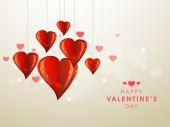 Happy Valentine's Day viering met stijlvolle hart. — Stockvector