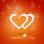 Beautiful heart for Valentine's Day celebration. — Stock Vector