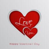 Valentine's Day celebration greeting card. — Stok Vektör