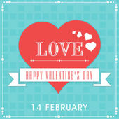 14 February, Valentine's Day celebration concept. — Stock Vector