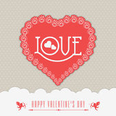 Valentine's Day celebration greeting card. — Vecteur