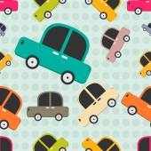 Seamless pattern with cars. — Stock Vector