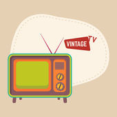 Isolated retro television concept. — Stock Vector