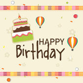 Birthday celebration invitation card design. — Stock Vector