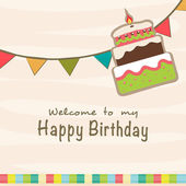 Birthday Invitation card design. — Stock Vector