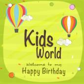 Kids Birthday celebration Invitation card. — Stock Vector