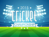 2015 cricket championship text. — Stock Vector