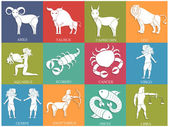 Twelve Horoscope or Zodiac sign collection. — Stock Vector
